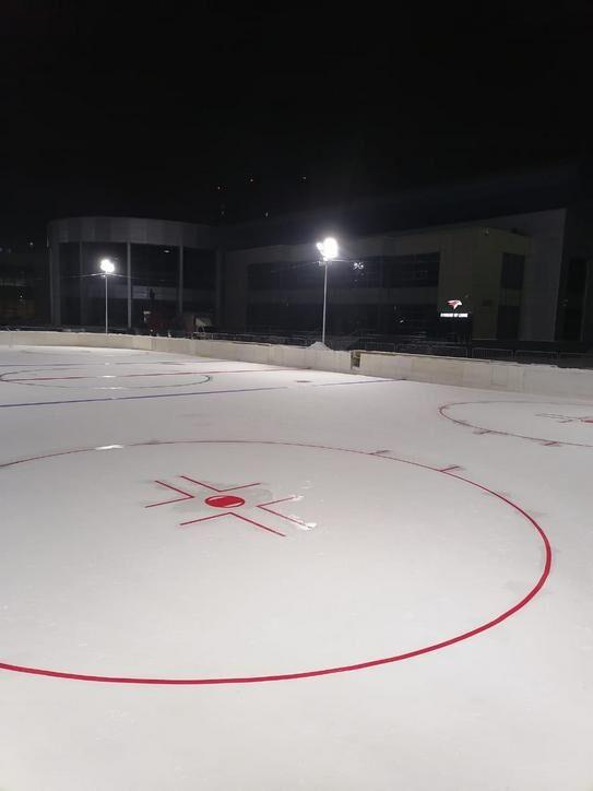 Монтаж хоккейной разметки